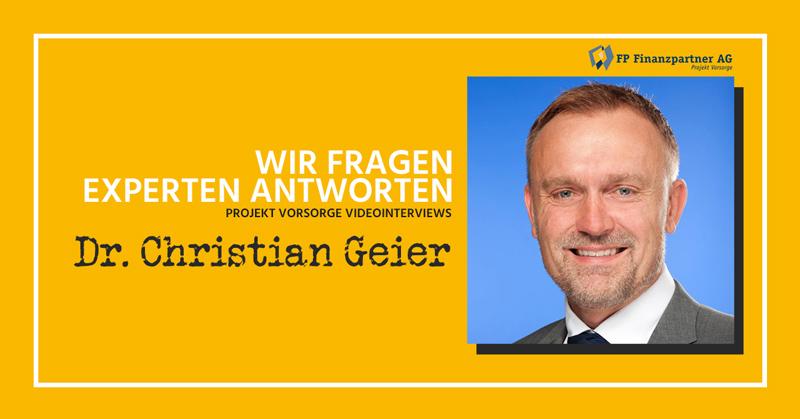 Dr. Christian Geier: Die Immobilie als Altersvorsorge [Videointerview]